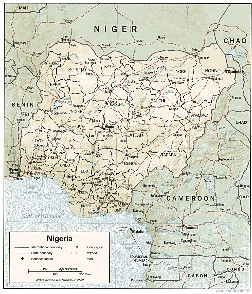Szerokosc Geograficzna Dlugosc Geograficzna Mapa Nigerii Mapa